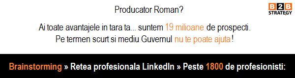 Producator Roman? Iesi de pe piata in 3 ani? Brainstorming: