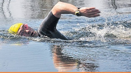 Iancu Avram, Canalul Manecii, antrenament