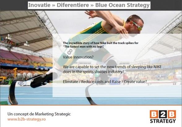 Inovatie. Diferentiere. Blue Ocean Strategy