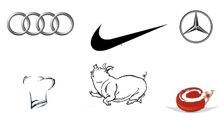 Logo, Element vizual Audi, Nike, Agil, Caroli Foods