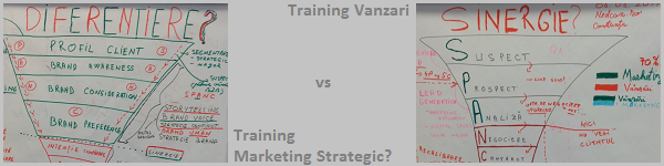 Training Vanzari vs Training Marketing Strategic: