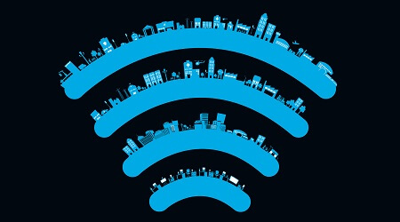 Wireless sign smart city