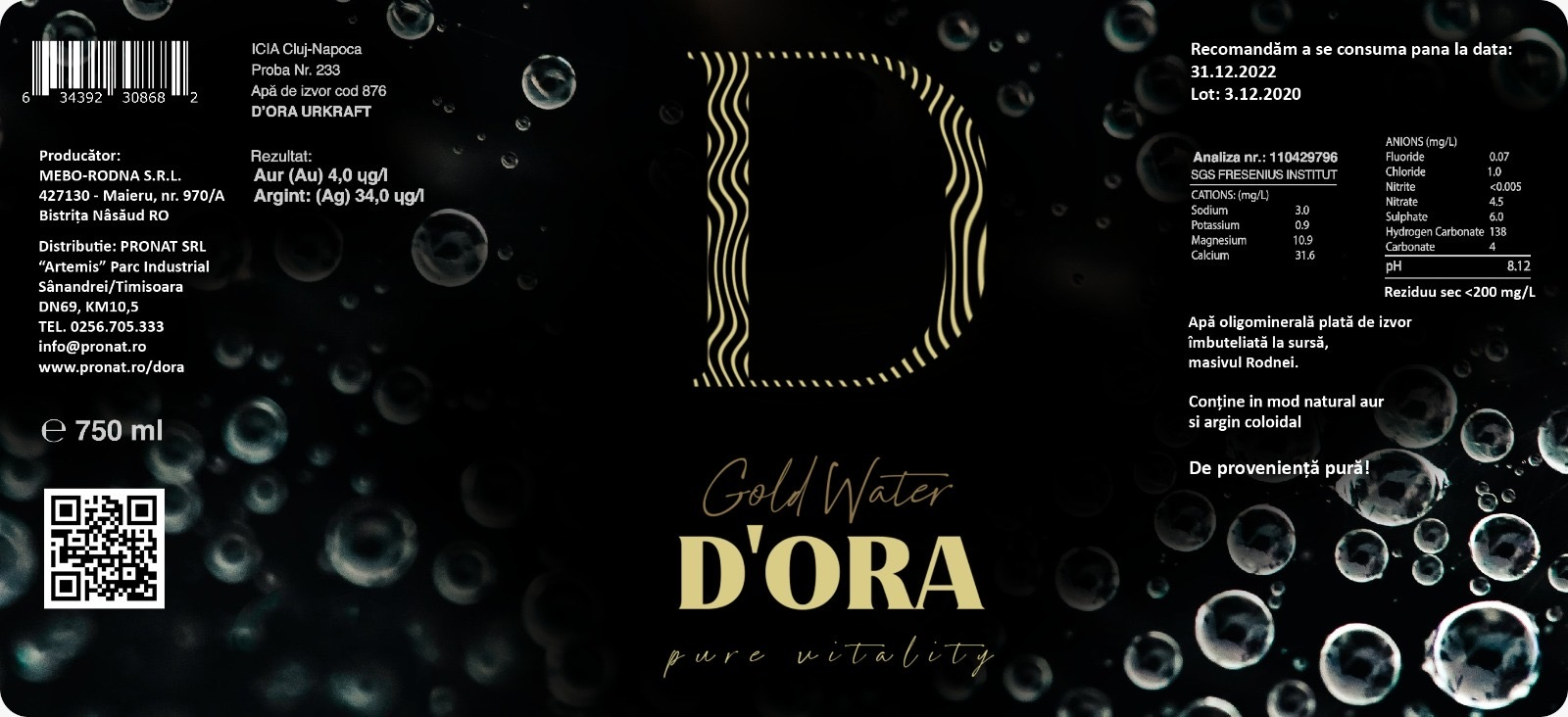 reBranding D'ORA packaging design PRONAT