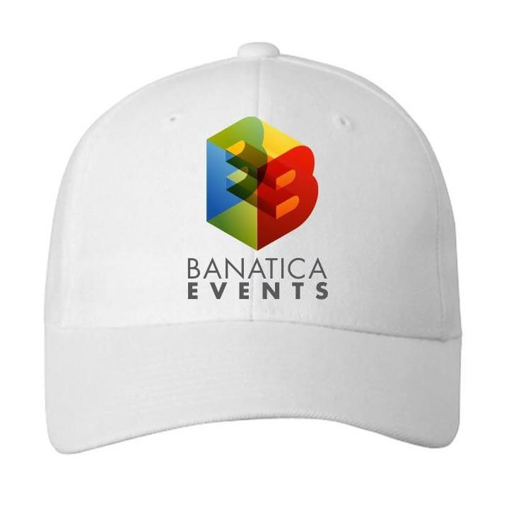 Branding Banatica Events™ Branduit Sapca Alba