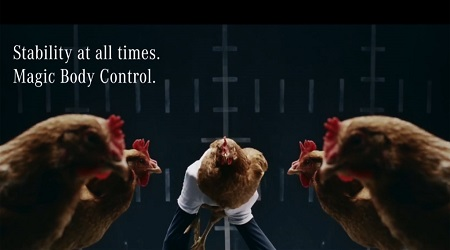 2014 Mercedes Benz S Class chicken ad
