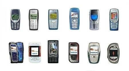 Evolutie modele telefoane NOKIA Connecting PEOPLE