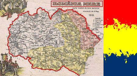 Romania Mare Harta 1919