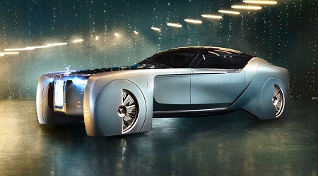 rolls royce vision next 100 concept car